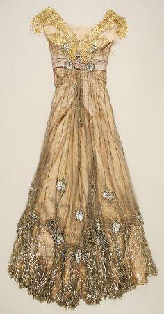 Belle Epoque Paris gowns | ... Dress – 1907-8 – by Jacques Doucet (French, 1853-1929 Paris