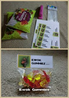 Running away? I'll help you pack.: Star War's Party .... Yoda RSVP Cards & Ewok Gummies