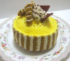 Cake Crochet Pattern Crochet Food Pattern PDF Instant por melbangel