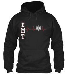 Emt Black Sweatshirt Front