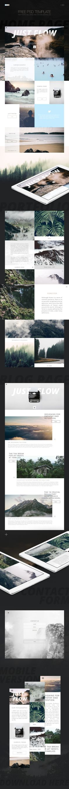 Free PSD template for your photo gallery or portfolio