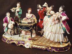Vintage German Dresden Art Lace Figurine Musical Group   eBay