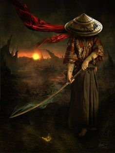 A ronin was a samurai with no lord or master during the feudal period of Japan. A samurai became master-less from the death or fall of his master, or. Fantasy Male, Fantasy Warrior, Arte Ninja, Ninja Art, Ronin Samurai, Samurai Warrior, Japanese Culture, Japanese Art, Digital Art Illustration