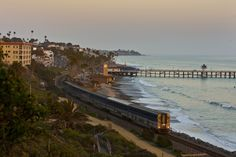 San Clemente Pier, Long Beach City Beach Among Most Polluted in CA, Report Finds Long Beach City, San Clemente Pier, Scenic Train Rides, Train Route, San Diego Travel, California Coast, Southern California, Ways To Travel, Air Travel