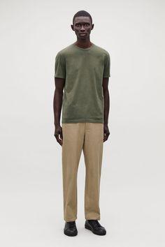 c8b7c2982f9 ROUND-NECK T-SHIRT - Khaki green - T-shirts - COS