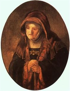 Portrait of artist's mother - Rembrandt