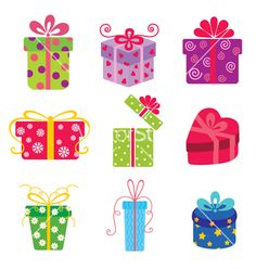 box set of colorful gift boxes vector negle Choice Image