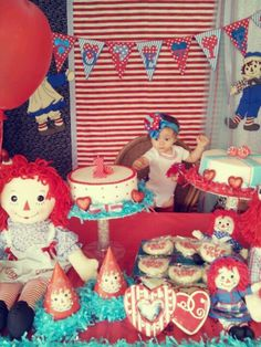How cute would a raggedy ann birthday be that matches the raggedy ann granny mills made me when I was born!!!!
