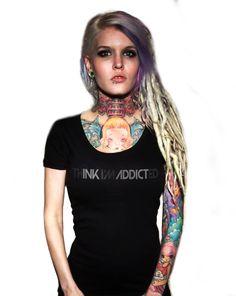 Think Im Addicted Scoop Neck Tee by InkAddict.