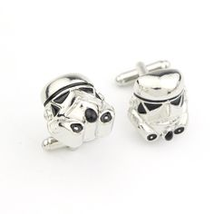 High Country Manufacturing and Sales Star Wars PORG Silvertone Cufflinks Quality Cosplay Costume Fashion Jewelry