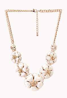 Sweet Floral Bib Necklace | FOREVER21 - 1000090709