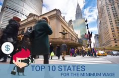 10 States With The Highest Minimum Wages ~ via www.bankrate.com/finance/jobs-careers/states-with-highest-minimum-wage-1.aspx
