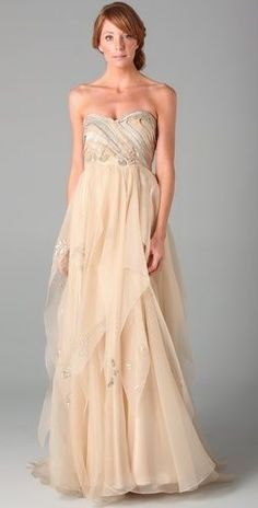 Tendance Robe du mariée 2017/2018  blush wedding dress