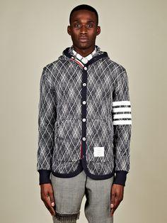Thom Browne Men's Button Front Sweatshirt