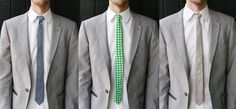 A skinny tie DIY so you can be sure the groomsmen's ties match the bridesmaid dresses perfectly.