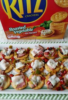 When you need a quick appetizer, try @simplycat25's Cheesesteak Cracker Appetizer recipe! It's easy to create appetizers that will be a hit with guests when you build on RITZ® Crackers. They are the perfect cracker base to compliment dips, cheeseballs, as well as this tasty recipe! Put It On A RITZ® AD