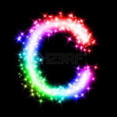 colorful alphabet letter - C