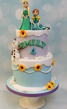Frozen Fever - Cake by Shereen
