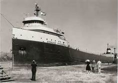 The legend lives on: remembering the Edmund Fitzgerald 40 years on. The ship was the largest, fastest and most expensive manmade object launched into fresh water. But it was no match for a November storm on the Great Lakes. Edmund Fitzgerald, Great Lakes Ships, Great Lakes Region, Shipwreck, Lake Superior, Lake Michigan, Wisconsin, That Way, North America