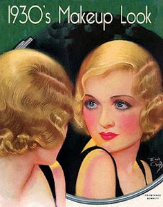 1930's make-up look. Earl Christy