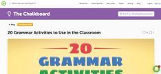 This blog on Teachstarter provides resources for teaching grammar to students. It emphasises the need to make learning grammar entertaining.