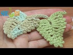 Crochet leaf garland, edging, trim