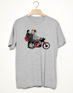 The Darjeeling Limited - Wes Anderson Camiseta Unisex T-Shirt Movie  - White or Grey - All sizes