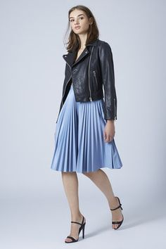 Adorable! TOPSHOP PU PLEATED MIDI SKIRT