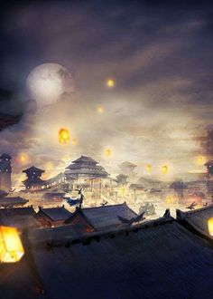 Even I'm just a loner, let me sacrifice myself to save the country Fantasy Places, Fantasy World, Fantasy Art, Chinese Architecture, Scenery Wallpaper, Fantasy Inspiration, Anime Scenery, Chinese Art, Landscape Art