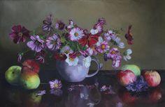 Панов Эдуард. Натюрморт с яблоками, 2015 | Холст, масло, 40 х 60, без багета