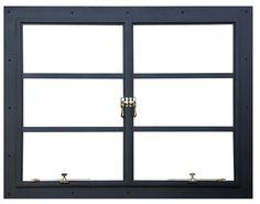 Portela Steel Windows + Doors -- Steel Window – Double Casement with hold open stays, historical window