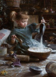 Morgan Weistling 1964 | American Romantic painter / illustrator - Flour Child