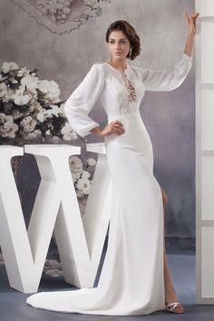 Lovely white evening gown