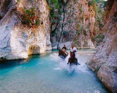Acherontas river in Epirus, Greece