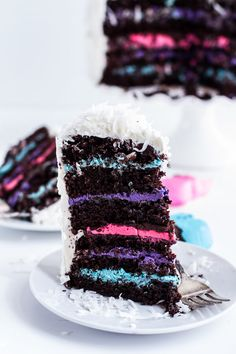 6-Layer (Or 3) Coconut Covered Chocolate Peeps Cake | halfbakedharvest.com