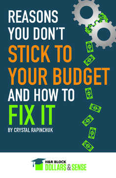 Reasons You Don't Stick To Your Budget And How To Fix It by Crystal Rapinchuk #budgeting #finance #education