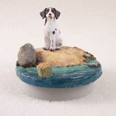 Brittany Liver & White Spaniel Candle Topper Beach