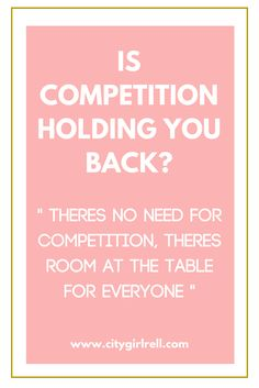 Whether you are running a business, a blog or networking, you want it to be successful. Focusing too much on competition can hinder your ability to build relationships and progress. Find out whether competition is holding you back