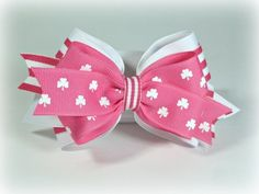 Pink St. Patty's Bow
