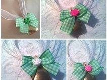 """♥ Trachten Kette ♥ """"Glöckchen"""" 5-450 grün"""