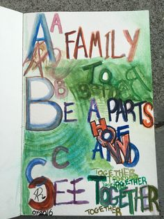 """""""A-B-C (A family to Be a part of and See together)"""". Img: July Image and Art: U., Alberto Rivera for Parts Of How and Allthentic Records. Water color and pen ink on paper. Watercolor, Ink, Paper, Image, Pen And Wash, Watercolor Painting, Watercolour, India Ink, Watercolors"""