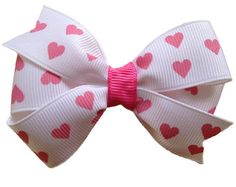 Valentine's Hair Bow by MissPrissBowBoutique on Etsy