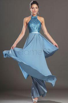 Sanduhr Chiffon paillettenbesetztes elegantes & luxuriöses volle länge drapiertes Ballkleid mit Ribbon