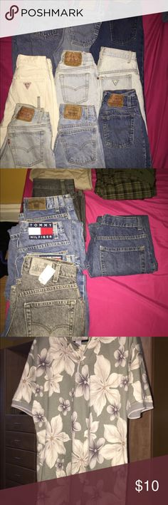 Tommy ,Ralph,Guess,Bamboocay,Levi's jeans I have a couple jeans I need to get rid of message me if interested Tommy Hilfiger Jeans