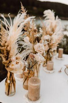 Boho Wedding, Floral Wedding, Fall Wedding, Wedding Flowers, Dream Wedding, Rustic Wedding Venues, Wedding Ideas, Wedding Table Decorations, Wedding Centerpieces
