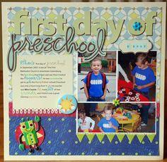 scrapbook pages preschool - Google Search