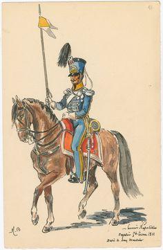 Cavalerie. Régiment de lanciers, grande tenue, 1812