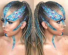 Glitter face paint, rave face paint, body glitter, costume makeup, sfx make Glitter Face Paint, Body Glitter, Glitter Makeup, Rave Face Paint, Sfx Makeup, Costume Makeup, Makeup Tips, Makeup Inspo, Makeup Inspiration