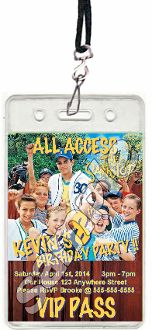 THE SANDLOT VIP PASSES WITH LANYARDS