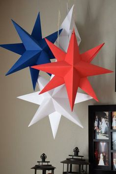 Hanging Paper Star, Large Folded Origami by The Path Less Traveled | Hatch.co